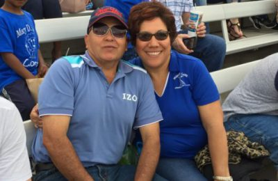 Mr. and Mrs. Herrera support MDLKC night at the Blue Rocks!
