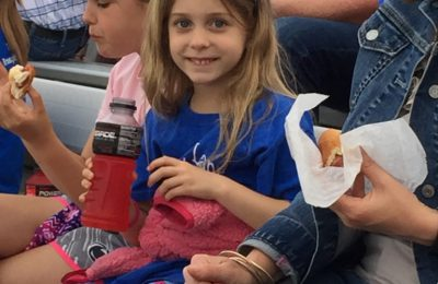 Nothing tastes better than stadium hot dogs and juice!
