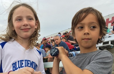 MDLKC students enjoy the Blue Rocks Game