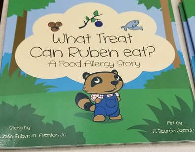 This is the book authored by a KCSD parent to help students learn about allergies.