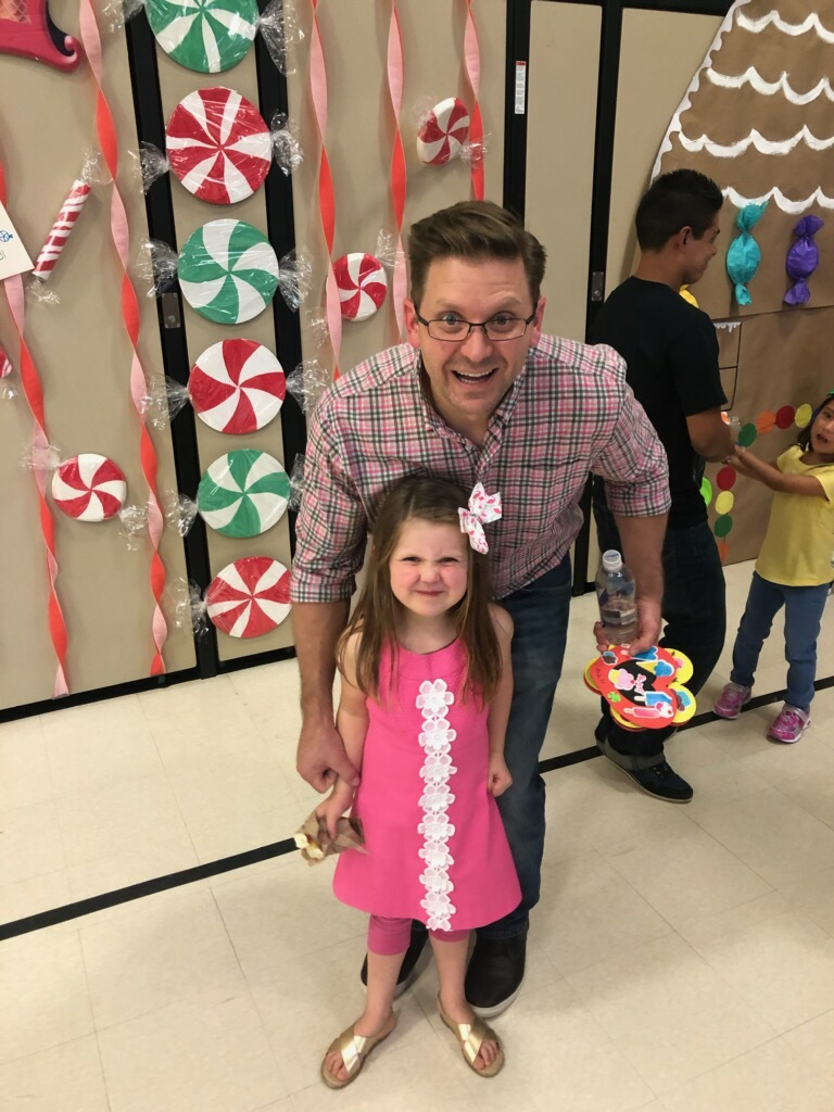 Dads and daughters had a great time.